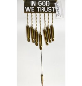 The Bullet Studio In God We Trust Wind Chime