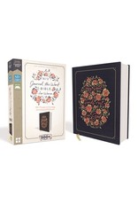 Harper Collins NIV, Journal the Word Bible for Women, Cloth over Board, Navy, Red Letter Edition, Comfort Print