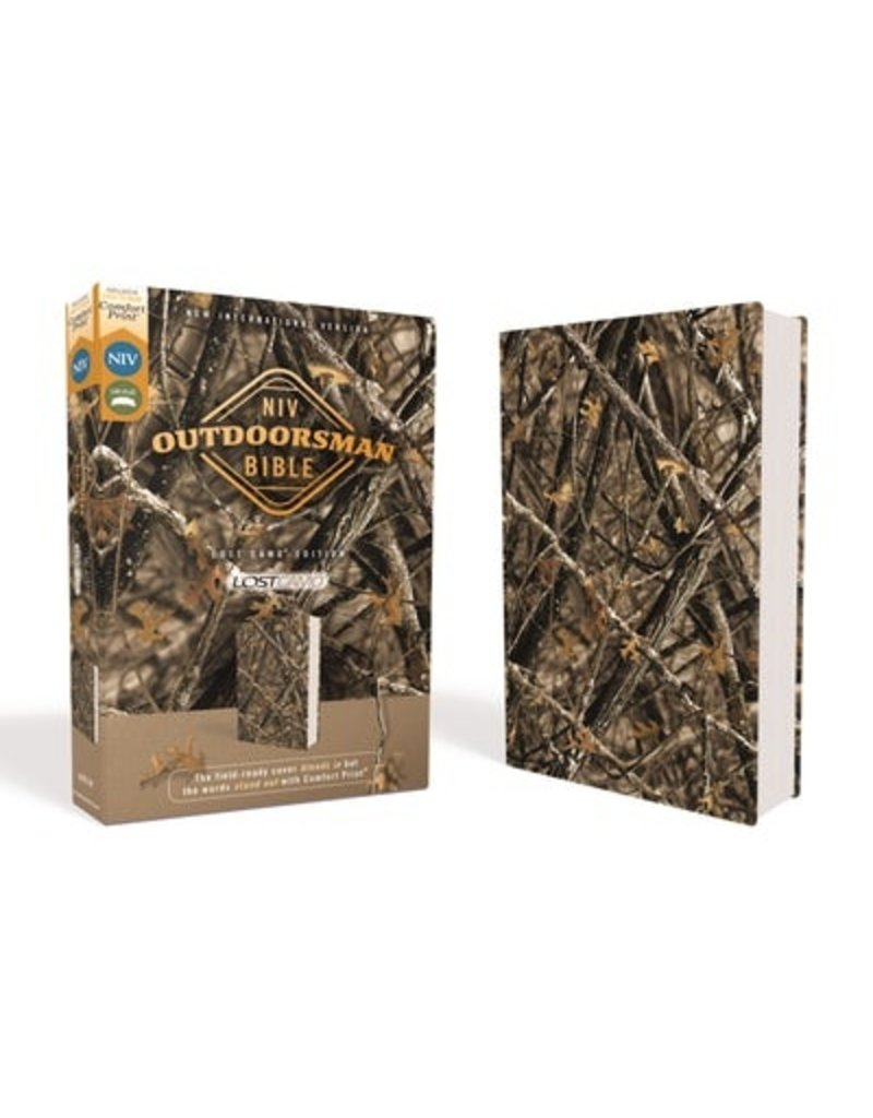Harper Collins NIV, Outdoorsman Bible, Lost Camo Edition, Leathersoft, Red Letter Edition, Comfort Print