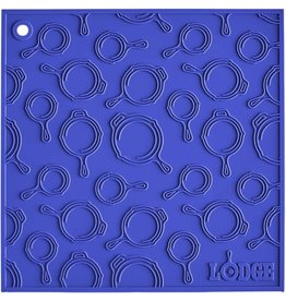 Lodge Cast Iron Square Skillet Trivet - Blue