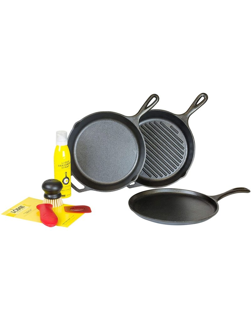 Lodge Cast Iron 7 PC Gourmet Set