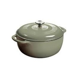 Lodge Cast Iron 6 QT Enamel Dutch Oven - Desert Sage