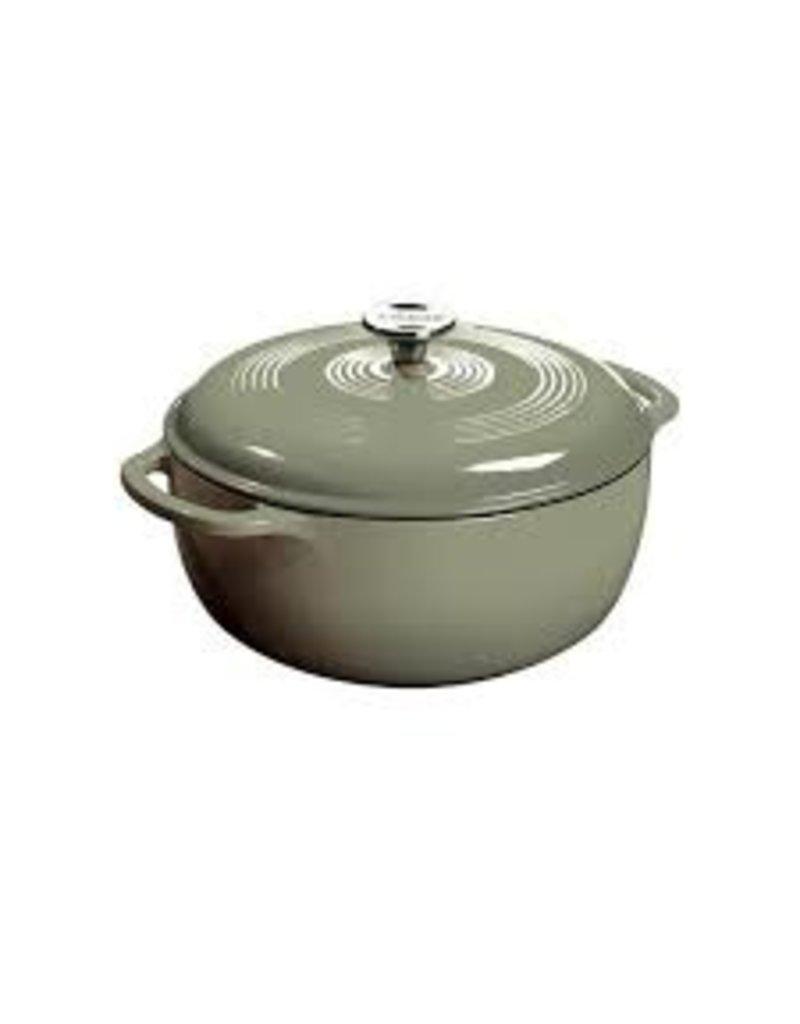 Lodge Cast Iron 6 QT Enamel Dutch Oven - Desert Sage