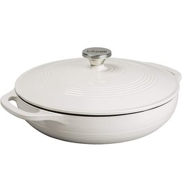Lodge Cast Iron 3.6 QT Enamel Casserole - Oyster