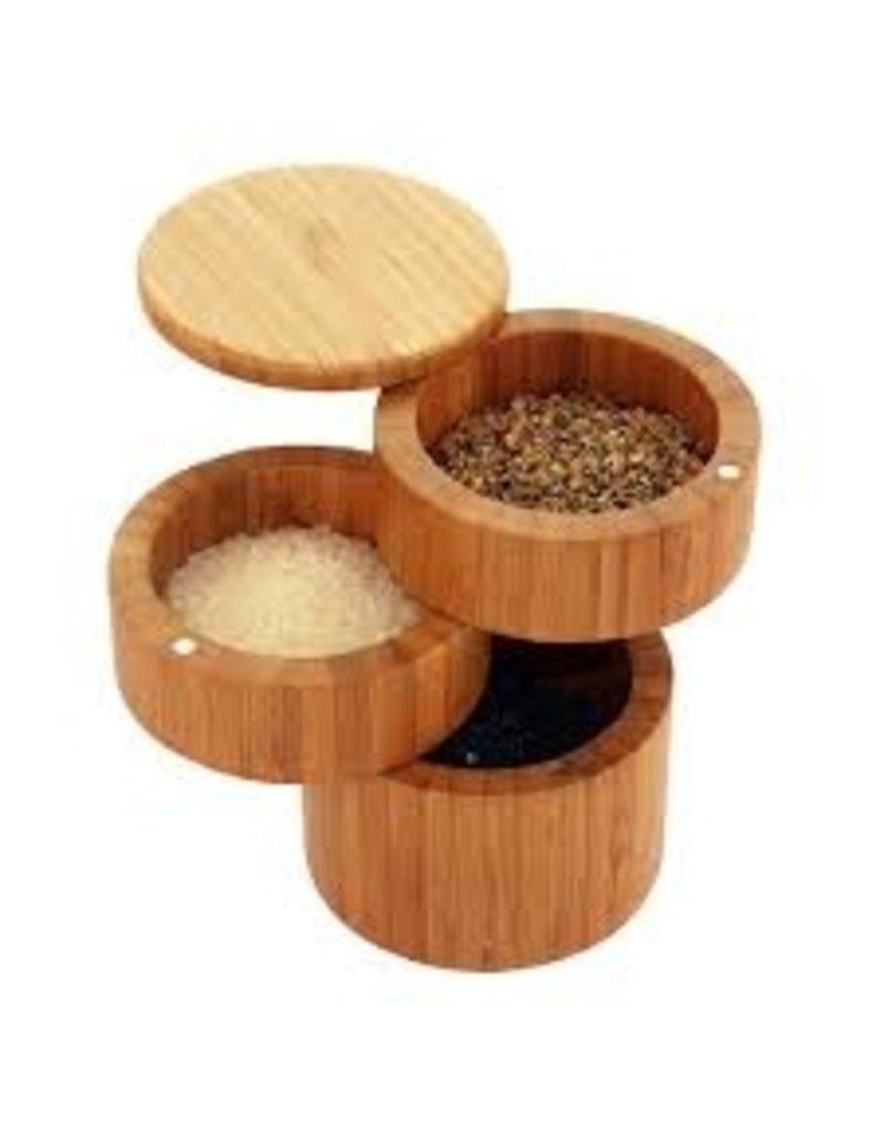 Totally Bamboo 3 Tier Salt Box