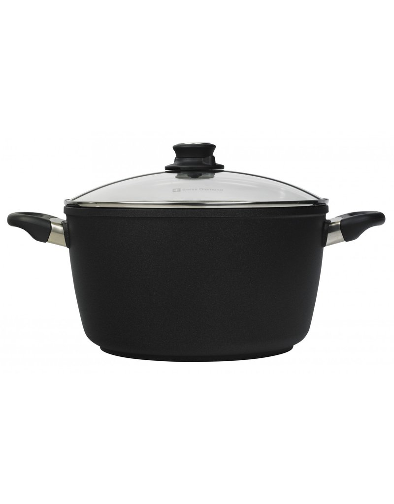 Swiss Diamond XD Induction Stock Pot with Lid 8.5 QT
