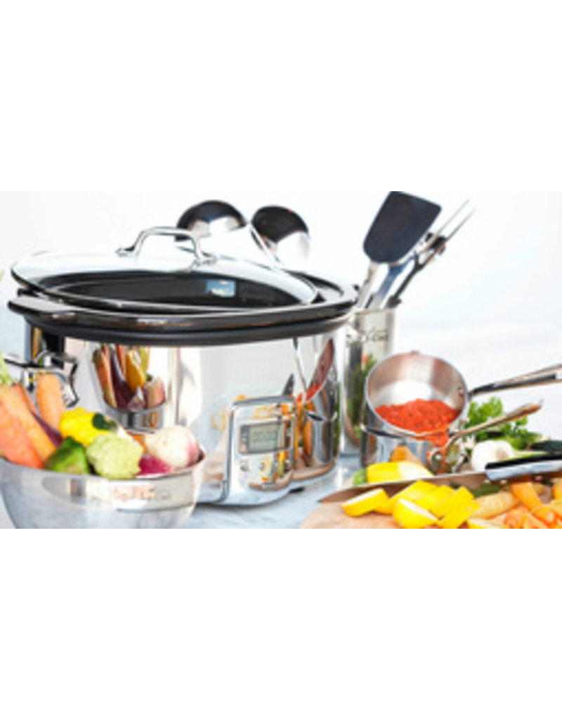 All-Clad Slow Cooker w/ Black Ceramic In