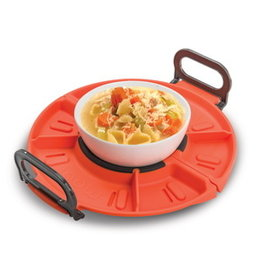 New Metro Folding Microwave Tray Red