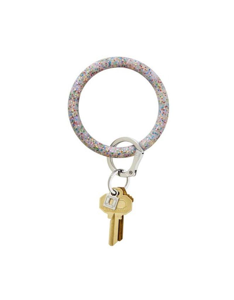 O-Venture Big O Key Ring - Confetti Silicone