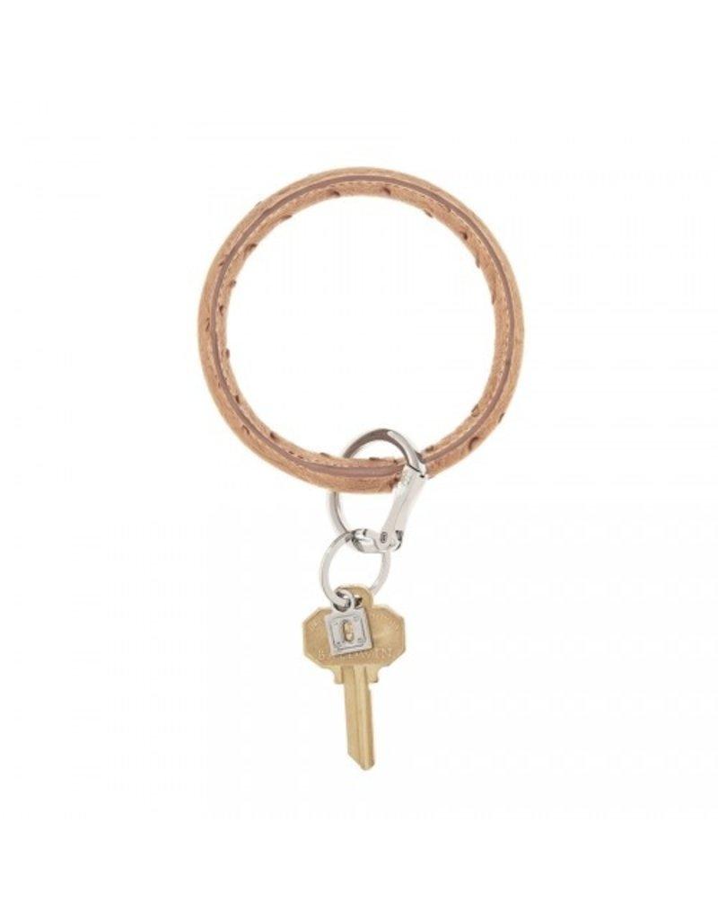 O-Venture Big O Key Ring - Ostrich Leather