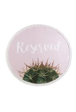 Shiraleah Reserved Round Beach Towel/Bag