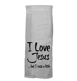 Twisted Wares I Love Jesus But I Cuss Towel
