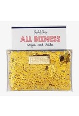 Packed Party Confetti Gold Card Holder