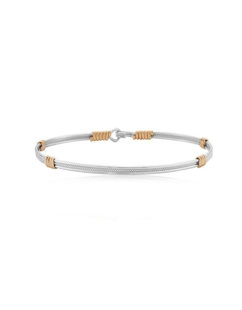 Ronaldo Designer Jewelry Be Kind Bracelet - Silver with 14K Gold