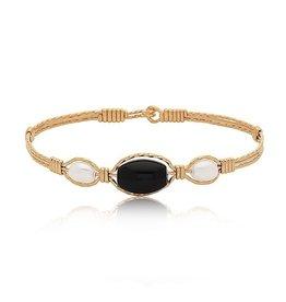 Ronaldo Designer Jewelry Trinity Bracelet - Silver with Gold Wraps