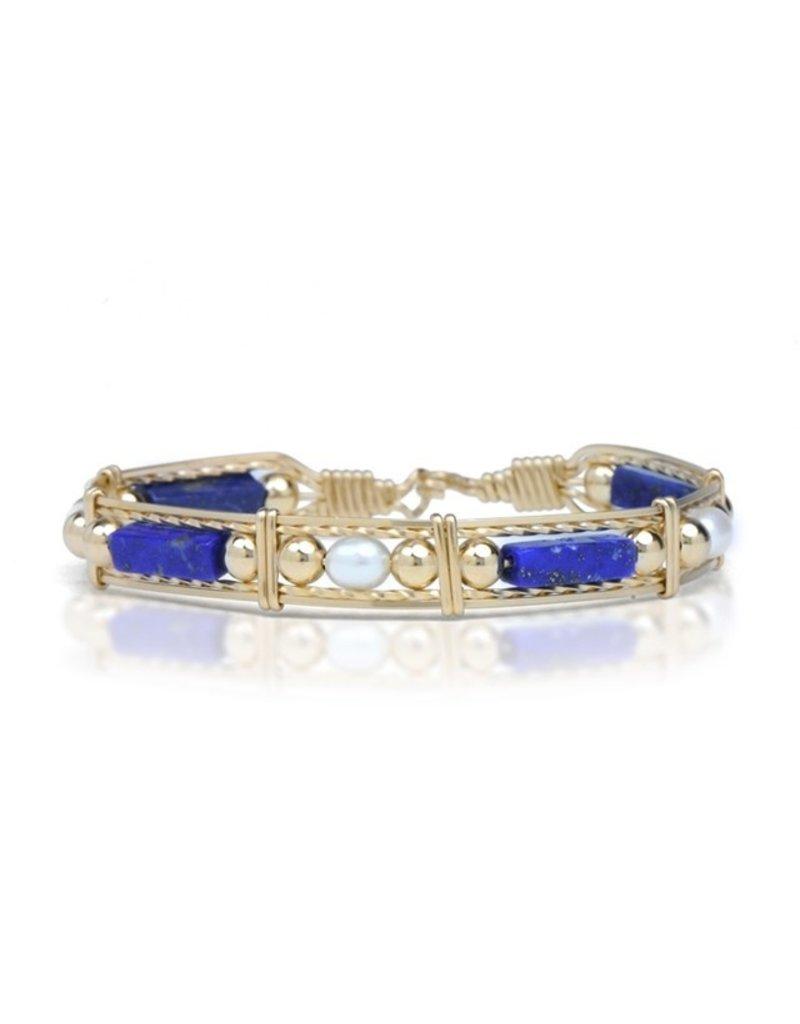 Ronaldo Designer Jewelry Color Your World - Lapis/Pearl/Gold