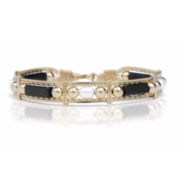 Ronaldo Designer Jewelry Color Your World - Black Onyx/Pearl/Gold