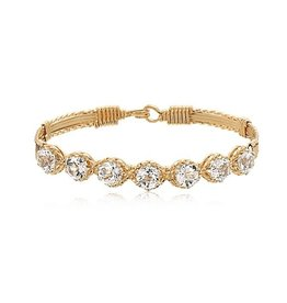 Ronaldo Designer Jewelry Dawn Bracelet - Gold with White Topaz