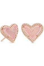 Kendra Scott Ari Heart Stud Earring - Drusy