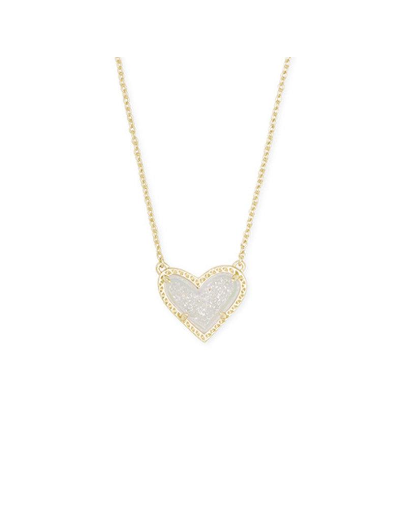 Kendra Scott Ari Heart Short Pendant- Drusy