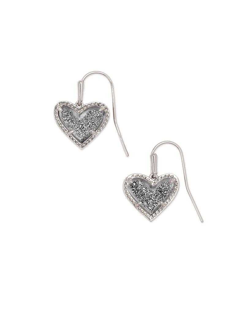 Kendra Scott Ari Heart Drop Earrings - Drusy