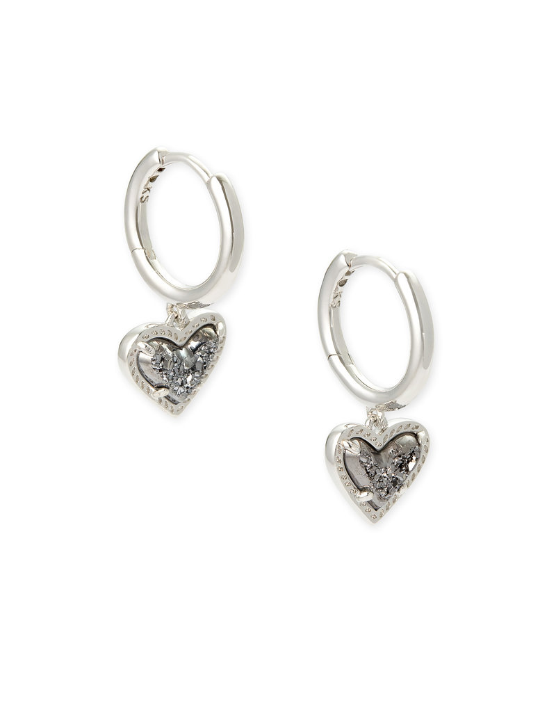 Kendra Scott Ari Heart Huggie Earring - Drusy