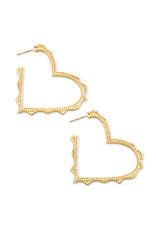 Kendra Scott Sophee Heart Hoop Earring