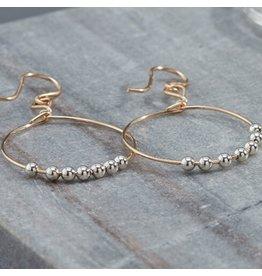 Ronaldo Designer Jewelry Power of Prayer Drop Hoop Earrings