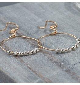 Ronaldo Designer Jewelry Power of Prayer Drop Hoop Earrings