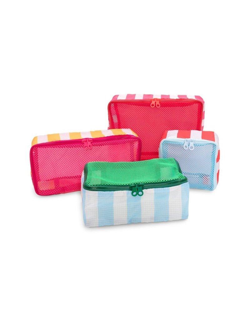 ban.do Getaway Packing Cube Set - Swim Club Stripe