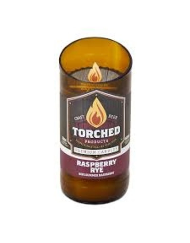 Torched Products Beer Bottle Candle-Raspberry Ry
