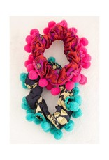 Natural Life Pompom Scrunchie Set/2