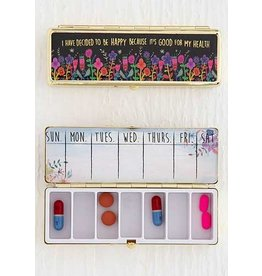 Natural Life Decide To Be Happy Daily Pill Box