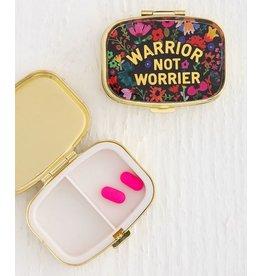 Natural Life Warrior Not Worrier Pill Box