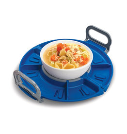 New Metro Folding Microwave Tray Blue