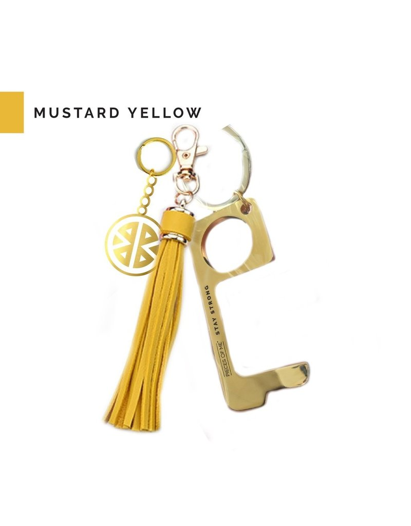 Pieces of Me Don't Touch That Tassel Keychain