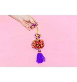 Taylor Elliott Designs Purple Pom + Tassel Keychain