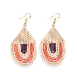 """Ink + Alloy Seed Bead Earring 3"""""""