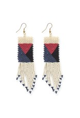 Ink + Alloy Seed Bead Earring 3.75""