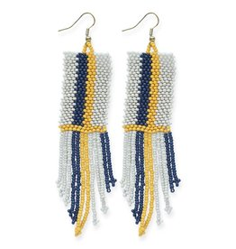 Ink + Alloy Seed Bead Stripe Earring 4.25""