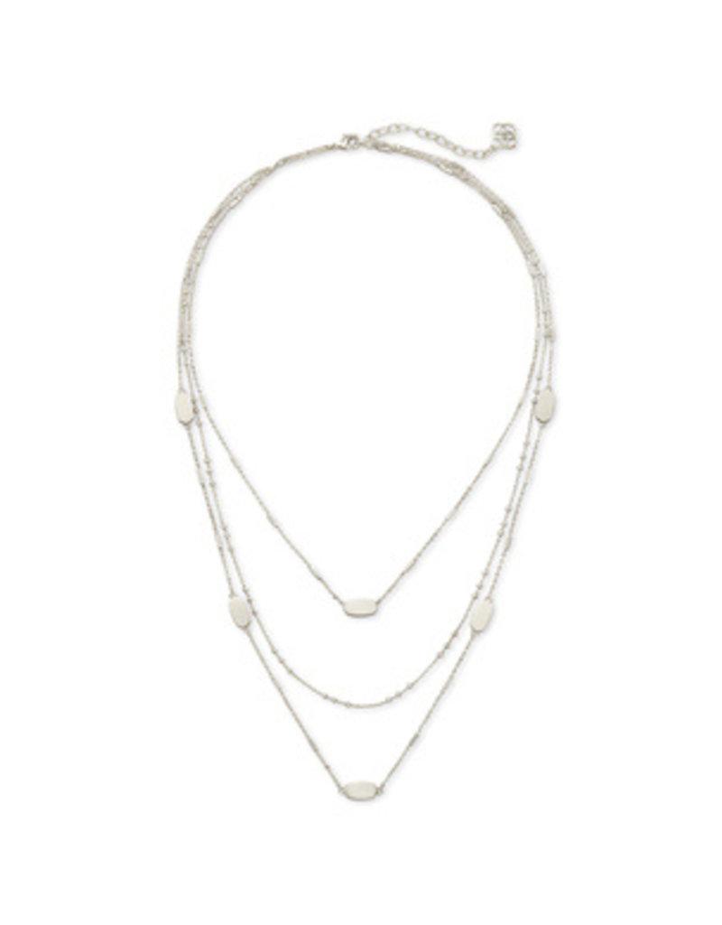 Fern Triple Strand Necklace