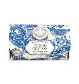 Michel Design Works Indigo Cotton Large Bath Soap Bar