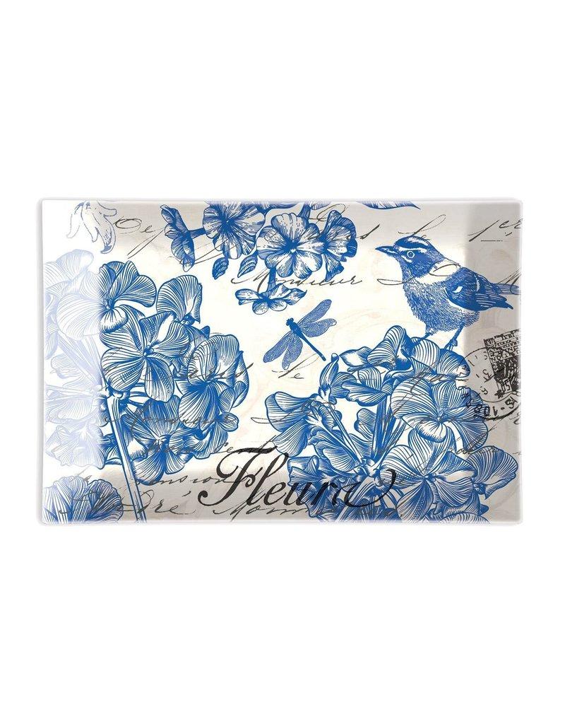Michel Design Works Indigo Cotton Glass Soap Dish