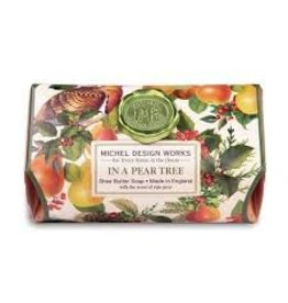 Michel Design Works In A Pear Tree Large Bath Soap Bar