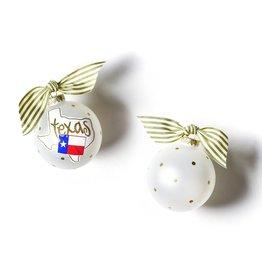 Coton Colors Texas Motif Glass Ornament