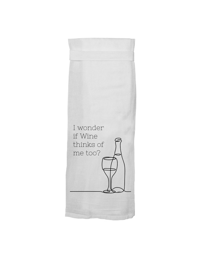 Twisted Wares I Wonder if Wine Misses Me too Towel