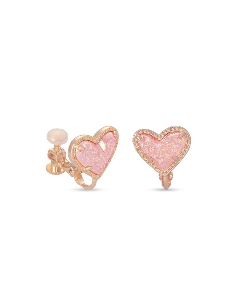 Kendra Scott Ari Heart Clip On Earring - Drusy