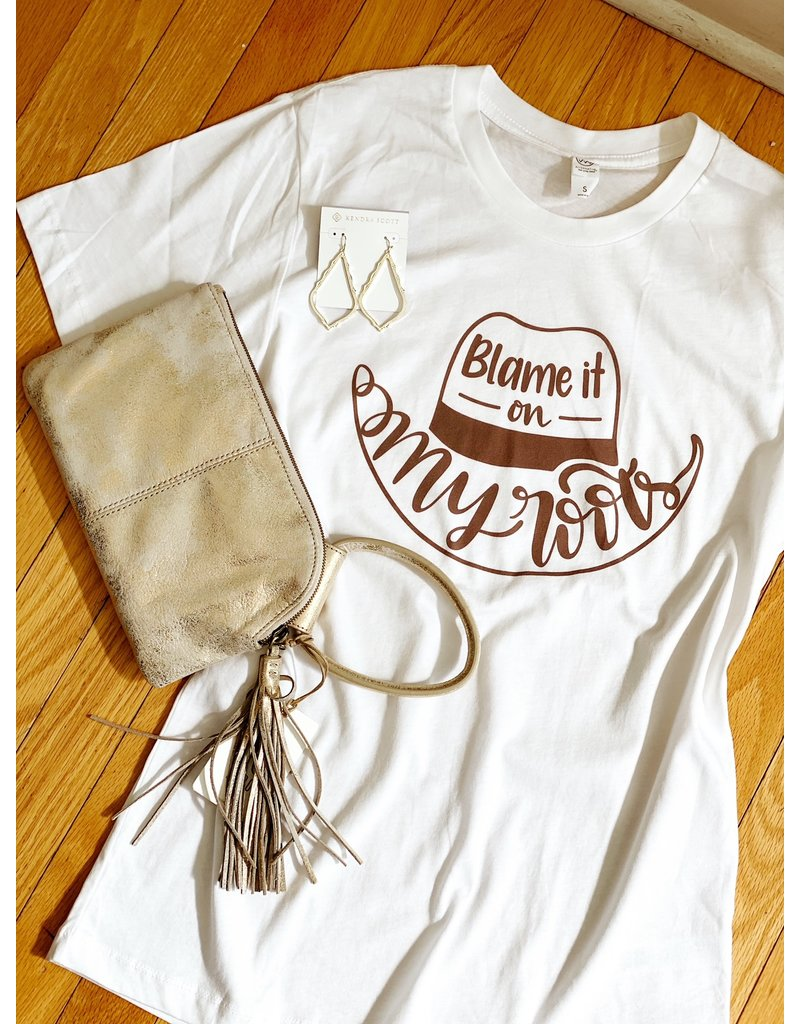 Midwest Tees Blame It All On My Roots - White
