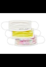 Kendra Scott 3 Pc Kendra Scott Face Mask Set - White/Yellow/Tie Dye