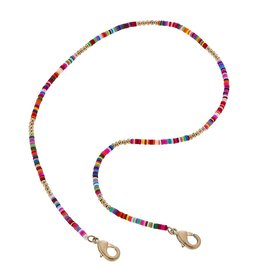 Canvas Emberly Color Block Mask Necklace